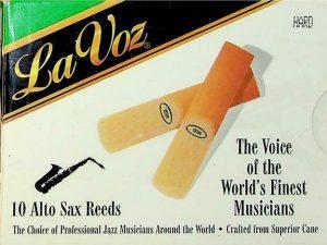 La Voz Alto Sax Reeds Hard Qty 8