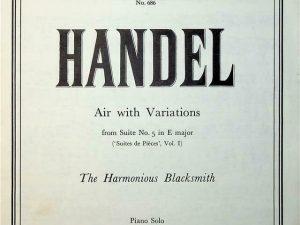 Air with Variations The Harmonious Blacksmith. Piano solo