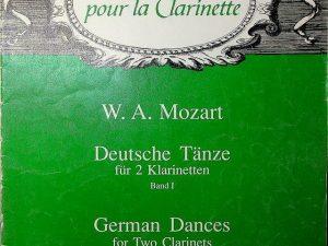 Revue Pour La Clarinette W. A. Mozart, German Dances for Two Clarinets Voume 1