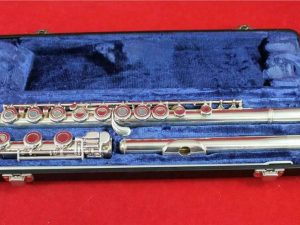 Artley of Conn Indiana Open Hole Flute Model 108-0, Silver, Serviced