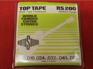 RotoSound RS200 Metal Tape Flatwound Guitar Strings