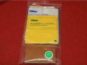 Yamaha Polishing Cloth, Cork Grease Soft and Cleaning Swab