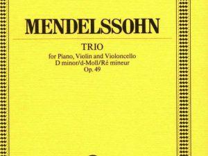 Piano Trio D minor op. 49 – Piano Trio – study score – (ETP 80)