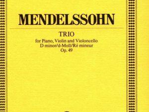 Piano Trio No. 1, Op. 49 in D Minor: Study Score