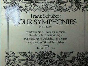 Schubert Four Symphonies in Full Score