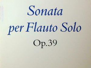 Sonata per Flauto Solo Op.39