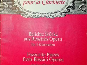 Favourite Pieces from Rossini Operas for 2 Clarinets