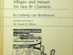 Allegro and Minuet for two Clarinets