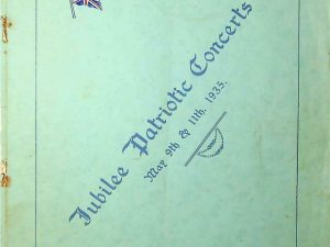 Jubilee Patriotic Concerts, May 9th & 11th, 1935