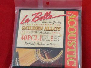 La Bella Golden Alloy 40PCL Guitar Strings