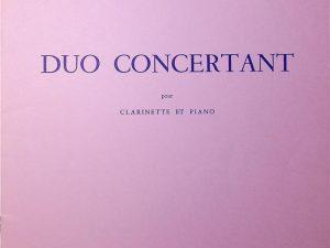 Duo Concertant pour Clarinette et Piano