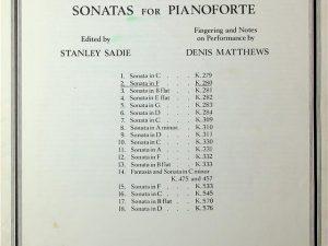 Mozart, Sonatas for Pianoforte