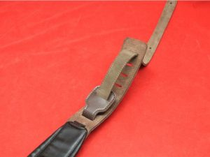 Tiger 3″Leather Guitar Strap Brown