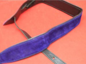 Leather 2.5″ Guitar Strap Blue and Black
