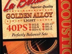 La Bella Golden Alloy Acoustic Light 40PS Guitar Strings