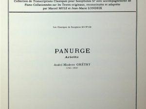 Les Classiques Des Saxophones Sib, Panurge