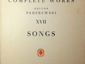 Chopin, Complete Works XVII Songs