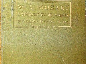 W. A. Mozart, Symphonie En Re Majeur in D Major